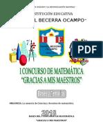 Concurso de Matematica