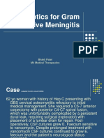 Abx for Gram Positive Meningitis