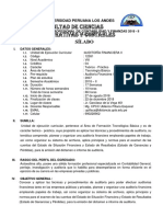 Silabo Auditoria Financiera II 2018 II