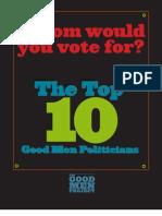 Good Men Top Ten Politicians