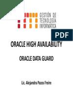 Oracle High Availability Oracle Data Guard