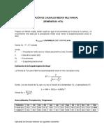 6.1 Calculo de Caudales Medios Vf