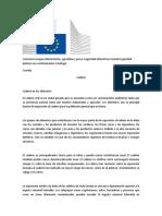 Comisión Europea Alimentación