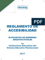 5. Reglamento de Accesibilidad Barreras Arquitectonicas BOLIVIA