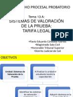 Tema 13 a Sistemas de Valoración de La Prueba Tarifa Legal