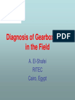 Diagonoses gearbox in field