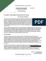 NSA Intelligence Relationship With Australia