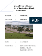 Energy Consumption Audit for Chinhoyi University of Technology Hotel