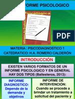 20- El Informe Psicodiagnostico