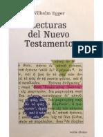 Egger Lecturas Del Nuevo Testamento PDF