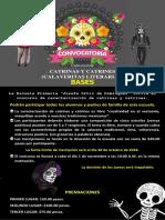Convocatoria Calaveritas Cristobal Hidalgo