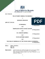 The Attorney General v Roderick Ferguson
