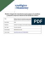 Modelo Integral de Manufactura Para Apoyo a La Pyme