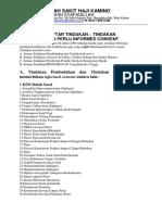 Daftar Tindakan Yang Memerlukan Inform Concent