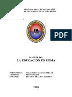 Dossier la educación en Roma