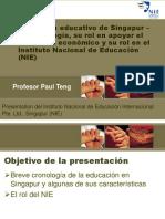 NIE International - Seminario Internacional - El Sistema Educativo de Singapur 16-10-2018