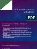 Agenda Rapat Tinjauan Manajemen