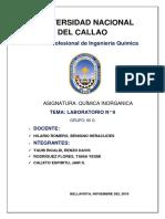 Inrganica Informe Nuemero 9