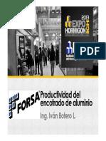 13 05 08 EDI SEM 2 Ivan Botero Productividad Del Encofrado de Aluminio FORSA