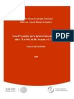 Manual del Facilitador para prevenir el  uso de cocaina y crack
