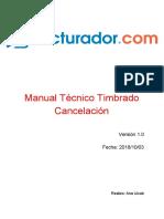Manual Técnico Timbrado Cancelación
