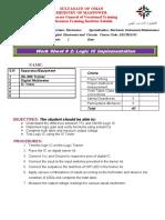 Work Sheet 2 Logic IC Implementation