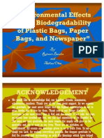 Environmental Effects on the Biodegradability of Plastic