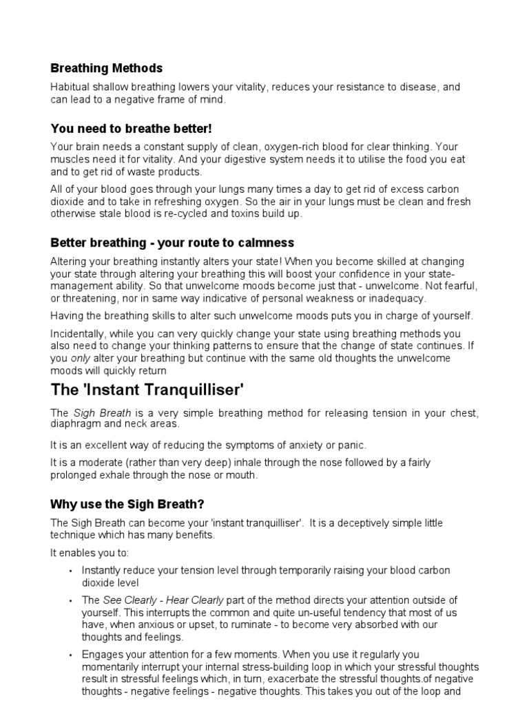 Breathing | Breathing | Relaxation (Psychology)