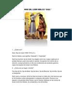 Informe Del Rey Saul 1