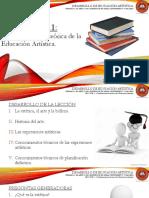Lección 1.1 Fundamentación Teórica de La Educación Artística