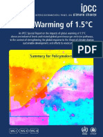 IPCC - Global Warming of 1.5 Degrees - Summary for Policymakers