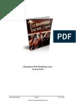 Champion Flat Handicap Lays System