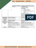 Agosto - 1er Grado Dosificación (2018-2019).docx
