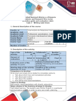 Activities Guide and Evaluation Rubric - Task 3 - Writing Task Forum