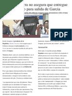 Martín Vizcarra No Asegura Que Entregue Salvoconducto Para Salida de García