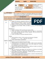 Agosto - 6to Grado Inglés (2018-2019)