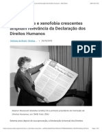 Extremismos e xenofobia crescentes ampliam relevância da Declaração dos Direitos Humanos – ONU Brasil
