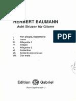 Baumann Acht Skizzen