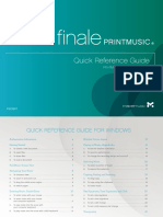 PrintMusic 2014 Quick Reference Guide for Windows
