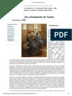 Produccion y Evaluacion de Textos