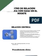 Registro de Relacion Centrica Con Guias en El