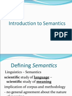 1. Introduction to Semantics