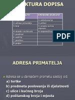 STRUKTURA DOPISA