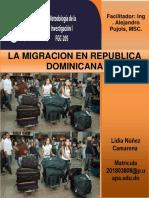 Tarea de Metodologia Sobre La Migracion