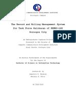 THESIS Documentation (DRAFT)