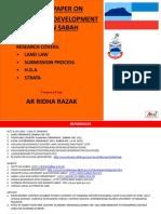 Sabah Development Legislation Research by Ar Ridha Razak