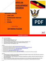 Sarawak Development Legislation Research by Ar Ridha Razak