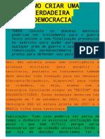 Manifesto Pela Democracia