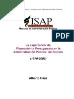 Antecedente de La Planeacion y Presupuestacion En_Sonora