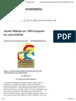 Javier Marías en 'Mil bosques en una bellota' | javiermariasblog